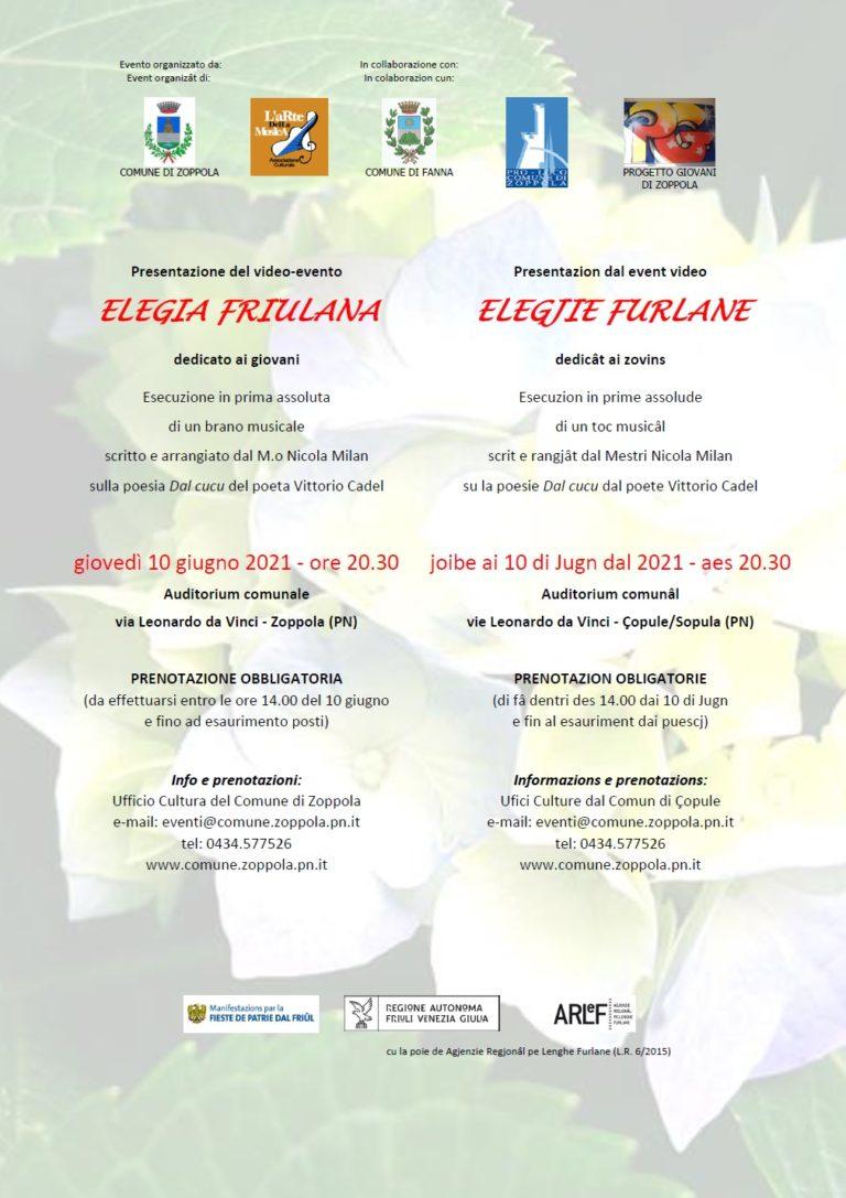 locandina presentazione Elegia Friulana